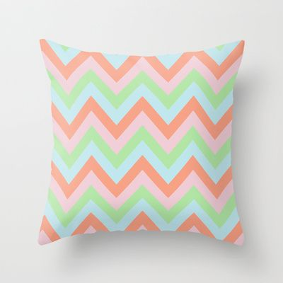 Gelato Chevron Throw Pillow by Neri Han - $20.00