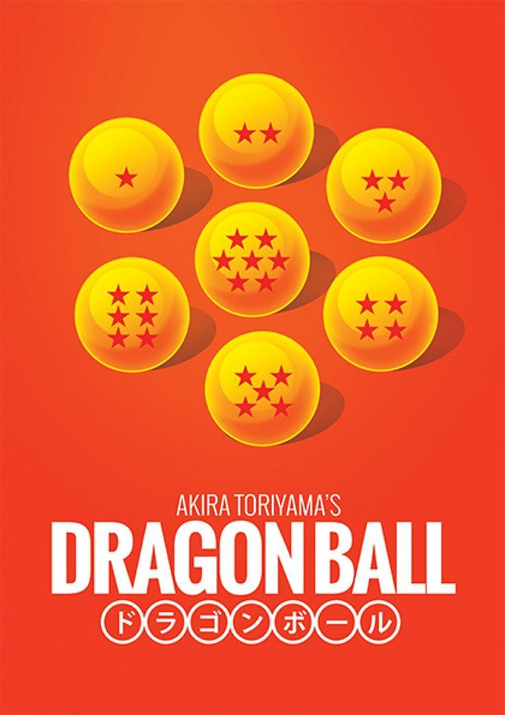 Esferas do Dragão - Dragon Ball - Desenhos   Posters Minimalistas