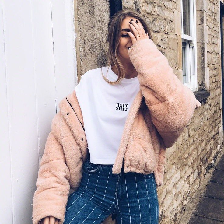 Light Before Dark Pink Teddy Puffer Jacket | Urban Outfitters | Women's | Coats & Jackets via @sineadcrowe #UOEurope #UrbanOutfittersEU #UOonYou