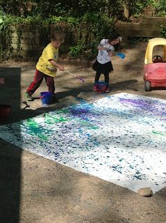 Jackson Pollock Painting: Big Body Art (from Playfully Learning)