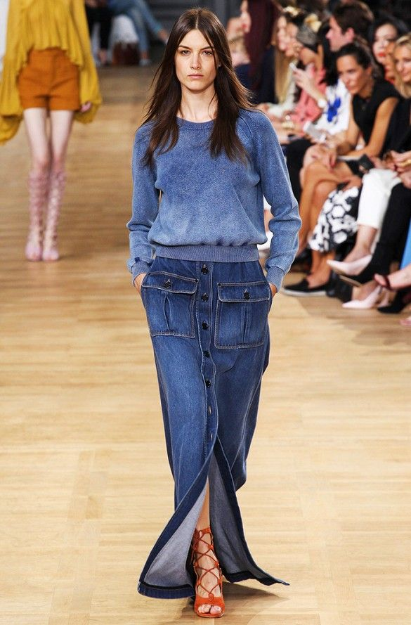 Denim maxi skirt // Chloé S/S '15