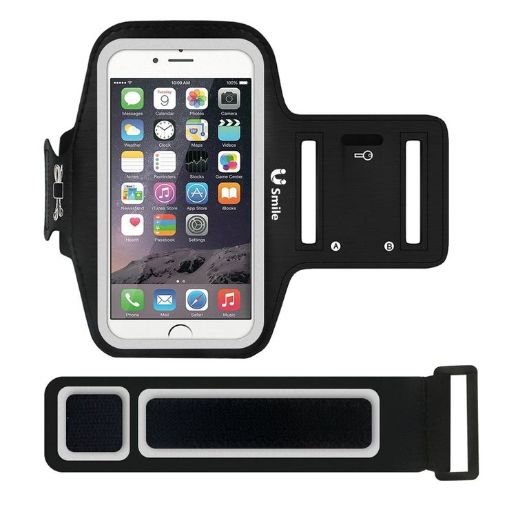 iphone 6S Armband, USmile Premium Sports Armband with Reflective Strip + Key Holder for Running, Jogging, Fitness & Workout, Smartphone Armband Case for iphone 6S/6/SE/5S, Samsung Galaxy S6 Edge/6/5/4. ✔ PREMIUM CUSTOMIZED SPORTS SMARTPHONE ARMBAND: ★Perfect design for iPhone 6s/6(4.7inch), but also fit for Samsung Galaxy S6 Edge/S6/S5/S4; ★Our sports armband is made of highest quality neoprene material--Sweatproof & Water-resistant & Breathable & Light-weight, comfortable to your arms. ✔...
