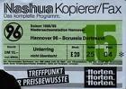 #Ticket  Ticket BL 88/89 Hannover 96  Borussia Dortmund #nederland