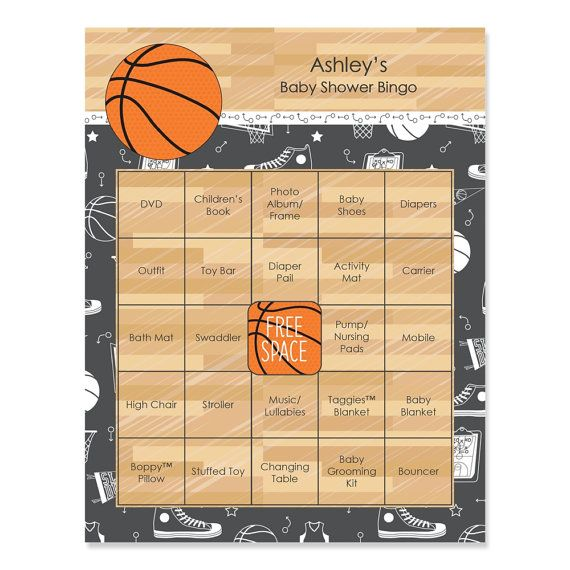 Nothin' But Net Basketball Baby Shower Bingo  by BigDotOfHappiness