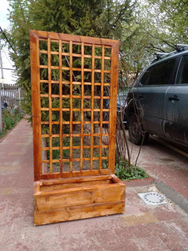 25 best ideas about wooden flower boxes on pinterest diy wooden planters wooden garden - Wood trellis plans image ...