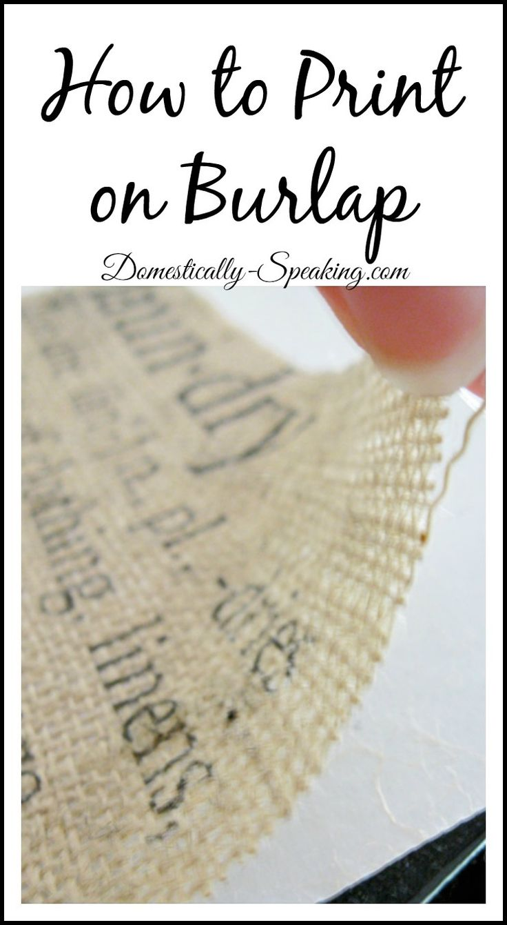 How to Print on Burlap Tutorial | I've always wanted to learn to make cute burlap pillows with words on them!: