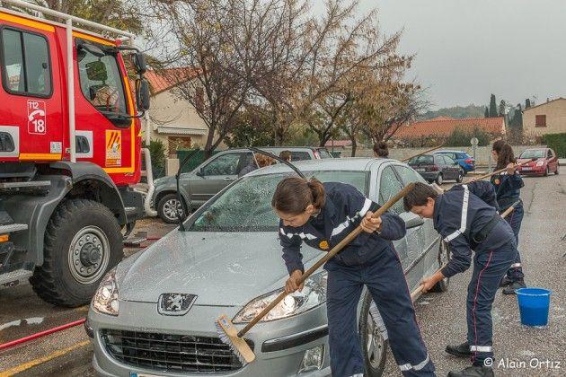 Les jeunes sapeurs-pompiers de Vinça se sont mouillés pour le Téléthon !