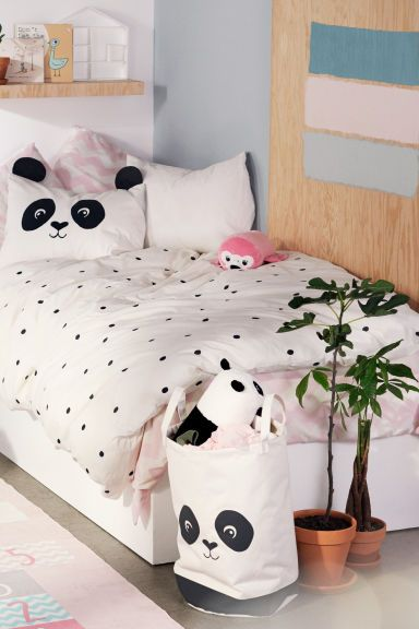 Постельное белье в горошек - Белый/Панда - HOME | H&M RU 1