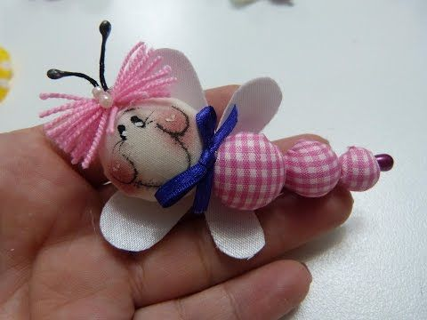 mariposas miniatura elaboradas con botones. bows with butterfly hair - YouTube