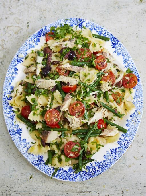 Mackerel pasta salad (I'll use rotisserie chicken!)