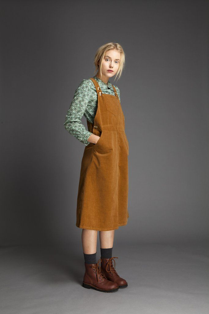 Cotton Velvet Dungaree Dress – Liisa Riski