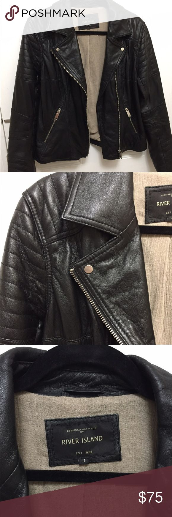 River Island leather jacket US size 14/16 River Island leather jacket US size 14/16 UK size 18 ... worn once excellent condition River Island Jackets & Coats