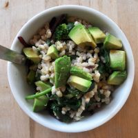 Macrobiotic Breakfast: Brown Rice Green Bowl | The Colorful Kitchen