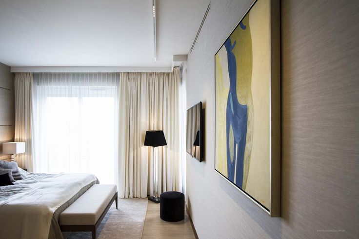 In this cozy and light bedroom is illuminated with a white Nuit profile surface mounted.