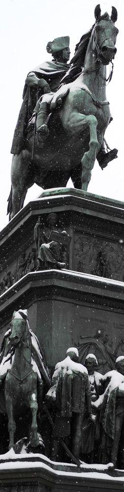 Der Alte Fritz im Schnee