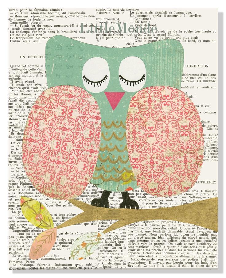 Baby Girl Nursery Prints, NURSERY ART PRINTS, French Nursery, Vintage Nursery Prints,Prints For Girl, Nursery Wall Decor, Pastel Prints, Owl. via Etsy.
