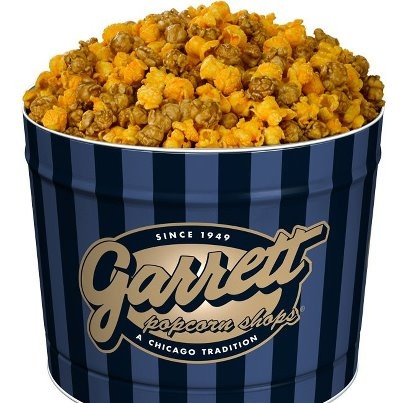 Garrett's popcorn... a Chicago landmark. Never leave the city without a bag of Caramel Corn or the Chicago mix as shown. NOTHING beats this caramel corn. nothing...