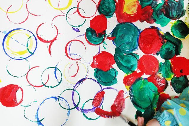 종이컵을 활용한 물감놀이 :: 너랑 나랑 그리는 그림 by Enid & Cherryyang