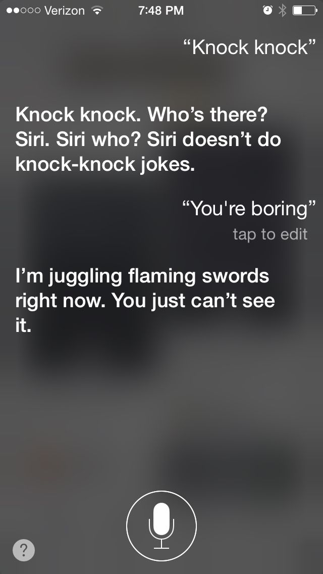 So I was looking up things to say to Siri and this happened. Don't think I've seen this one before