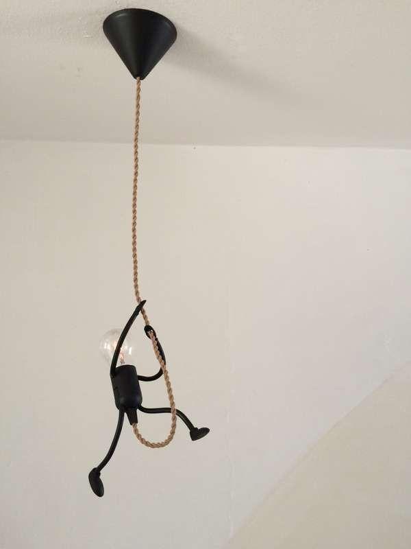 schöne DIY lustige Strichmännchen hängen Licht: große Tanne jedes Kinderzimmer, Industri