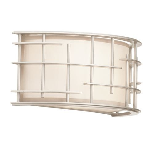 Kalco 6480TS Atelier 2 Light Horizontal Wall Sconce in Tarnished Silver
