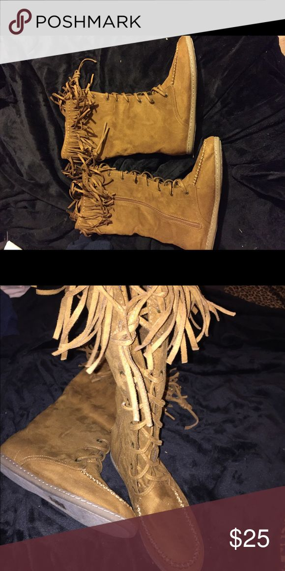 Soda boots /brand new / size 9 Never worn! Tilly's Shoes Lace Up Boots
