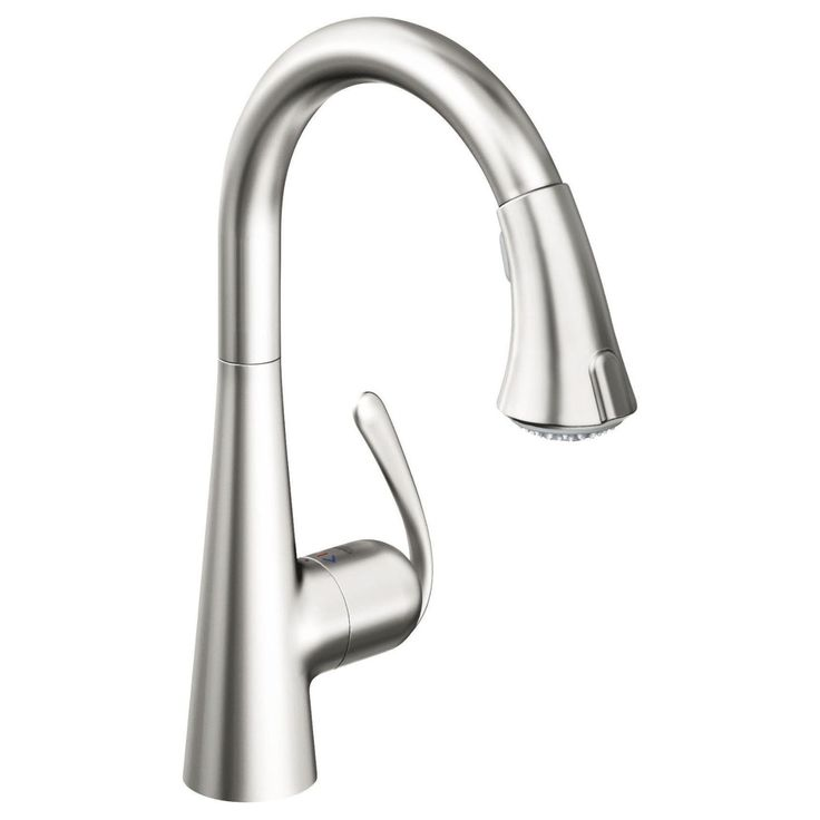 Grohe 32 298 Ladylux Café Main Sink Dual Spray Pull Down Kitchen Faucet  (RealSteel Stainless Steel) In Touch On Kitchen Sink Faucets.