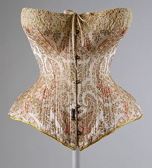 Corset, 1891  Maison Léoty (French, late 19th century): Met Museums, French Fashion, Maison Léoti, 19Th Century, Victorian Fashion, Vintage Corsets, Art History, Victorian Era, Metropolitan Museums