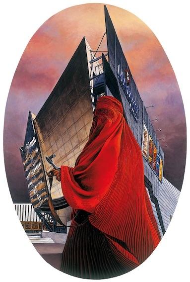 Andrea Zucchi, Dresda, 2009, olio su lino, cm 150x100.