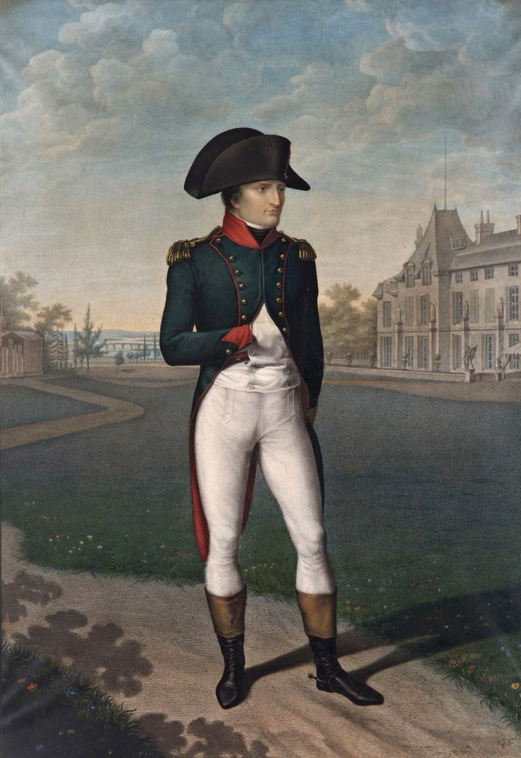 Jean-Baptiste Isabey: Napoleon Bonaparte, First Consul, in the gardens of Malmaison, 1804.