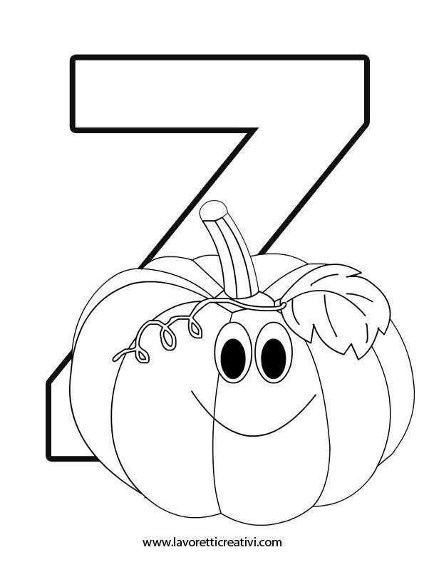Alfabeto con disegni – Lettera z