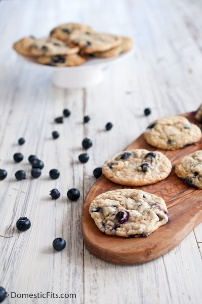 Chewy Lemon Blueberry Cookies (recipes for both cakey and chewey are listed.