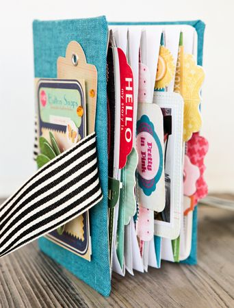 Make this envelope mini album from scratch with the detailed instructions over at Crate Paper. For the structure of the album, you'll need cardboard, fabric, ribbon and small envelopes. &nbsp…