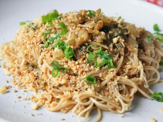 Cold-Dressed Noodles, Yibin-Style. OK with ramen noodles!