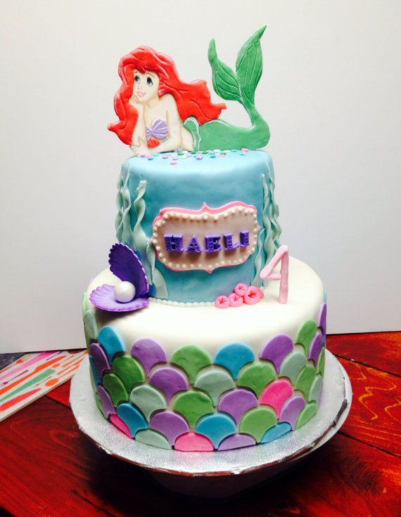 Hey, I found this really awesome Etsy listing at https://www.etsy.com/listing/207920021/little-mermaid-cake-topper