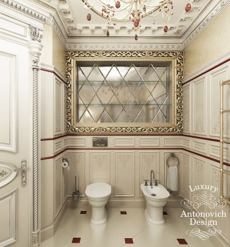 Antonovich design for Neoclassical bathroom designs