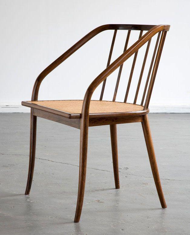 Joaquim Tenreiro; Jacaranda and Cane Armchair, 1948 #furnituredesign