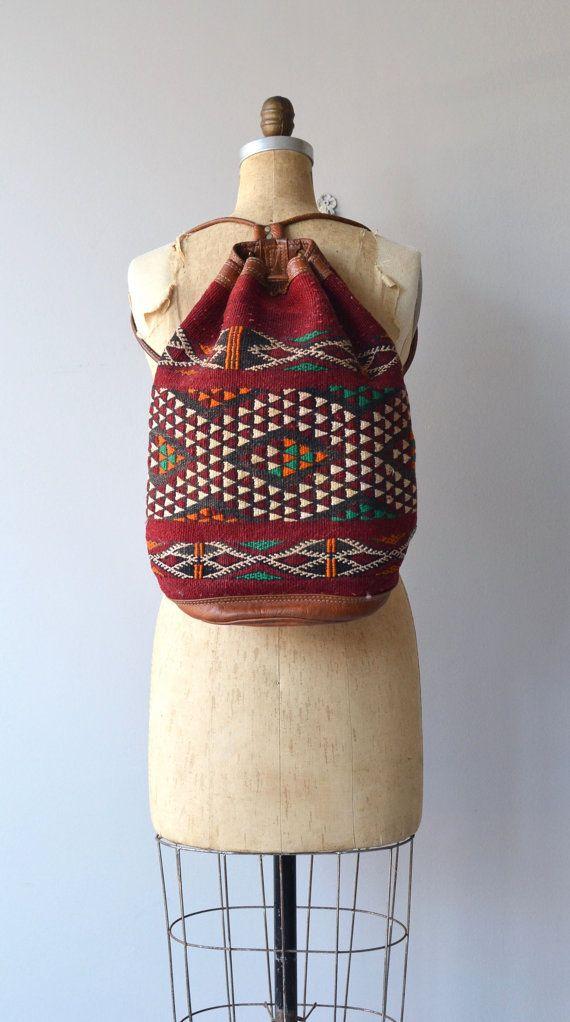Sahaflar kilim backpack vintage kilim bag Turkish by DearGolden