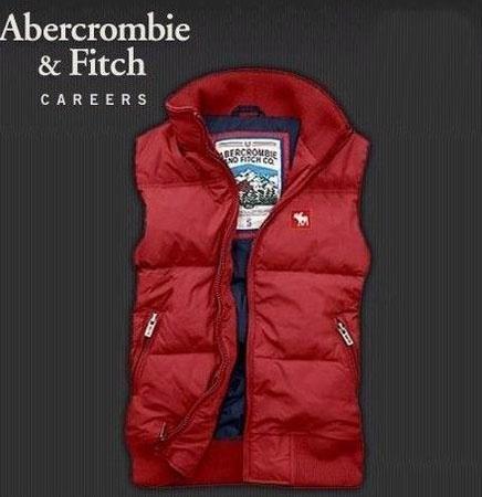 Abercrombie & Fitch womens giù gilet rosso blu