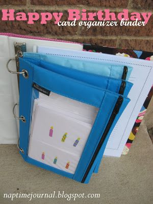 Card organizer: I like this for organizing blank cards and saving old cards!