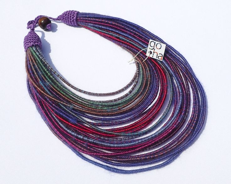Yarn necklace and bracelet- unique handmade jewelery. If you want buy it or make an order please contact by facebook www.facbook.com/malgorzatahojnikgoha or via message on www.goha.com.pl ;) about 19 €
