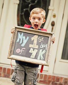 Elk jaar een foto op de eerste schooldag