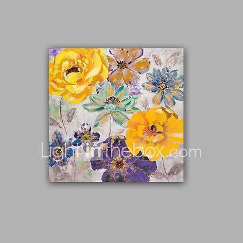 Pictat manual Abstract / Floral/Botanic Picturi de ulei,Modern / Clasic Un Panou Canava Hang-pictate pictură în ulei For Pagina de 5460079 2017 – €81.47