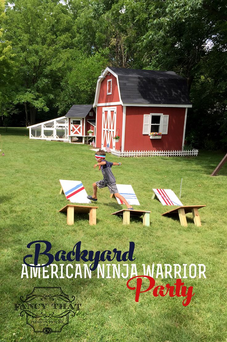 This weekend we celebrated two of our boys, as they turn 6 and 4 this month. One of our favorite shows to watch together as a family is American Ninja Warrior. So we turned the backyard into an obstacle course, fit for a bunch of ninjas. We made most everything from items we had around …