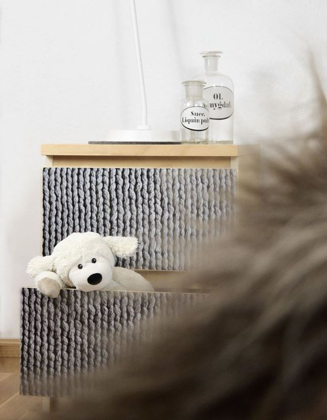 #Möbelfolie Strickoptik #IKEA #Malmkommode #creatistoblogger mxliving.de