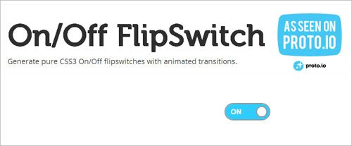 Generate Pure CSS3 Toggle Button With On/Off FlipSwitch Generator