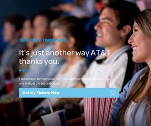 AT&T Ticket Twosdays are back!  AT&T Wireless customers can get a Free movie ticket when they buy one during AT&T Ticket Twosdays! Click to get started, just add your mobile number to get your 4-digit pin to get your Free ticket.  BOGO Free tickets are limited each Tuesday. One free ticket per AT&T Wireless account per week. Once all available tickets for a particular week have been claimed, AT&T will place a notice, so be sure to check if free tickets are available before making a purchase…