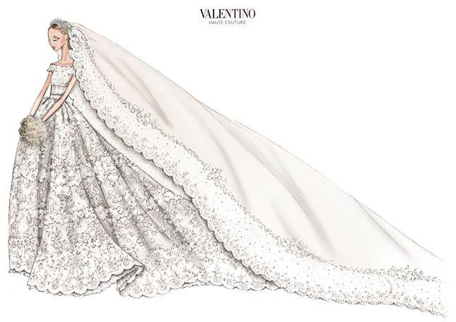Valentino per il matrimonio della Principessa Madeleine di Svezia