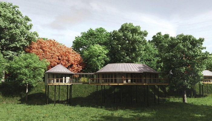 Chewton Glen Ağaç Evleri - İngiltere - Belki de bu listedeki ağaç evlerin en lüksü olan Chewton Glen, doğayı gerçekten en iyi şekilde hissetmek için cam duvarlarla tasarlanmış. Bu zarif süitler, ayrı yatak odaları ve oturma alanına sahiptir. Sıcak renkteki mobilyaları eve ayrı bir hava katıyor. Tesiste bulunan üstü açık sıcak küvet, duş, odun sobası ve LCD TV misafirler için özel düşünülmüş kullanılabilir lüks olanaklardan sadece birkaçıdır.