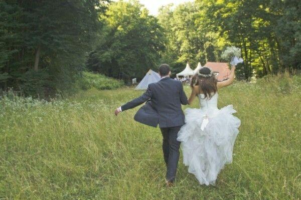Zebegény erdei esküvő